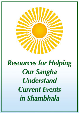 Graphic titled Resources for Helping Sangha Understand Current Events